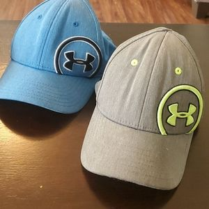 Bundle of (2) Under Armour Hats Size Youth S/M